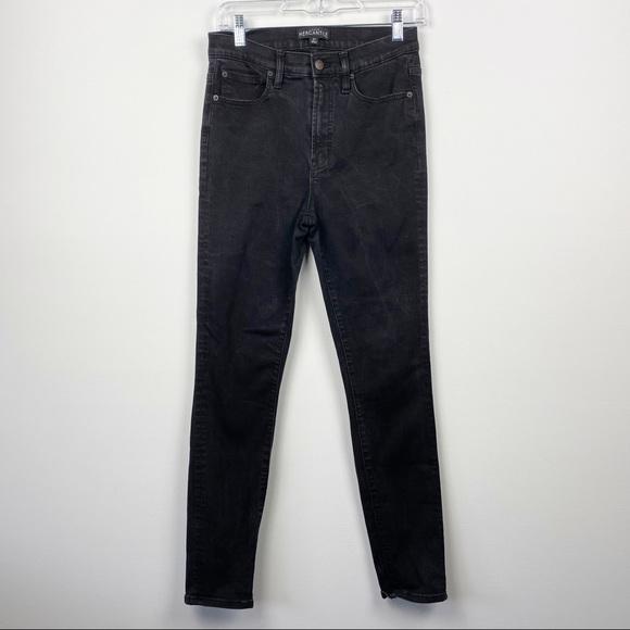 J. CREW MERCANTILE Black Washed Basic Skinny Jeans Size 27